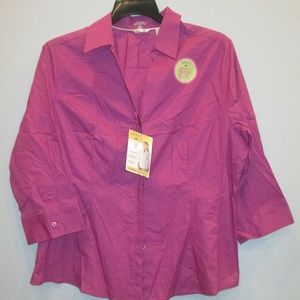 Riders by Lee Purple Shirt Size XL New w/Tags